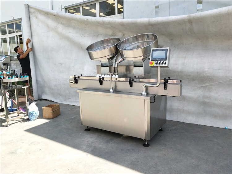 Automatisk tabletter for fylling av maskin i rustfritt stål