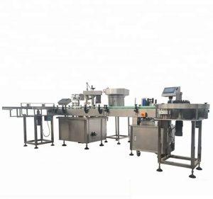 Automatisk flaskepåfyllings- og -kapselmaskin med høy kapasitet