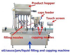 Høyt presisjons honningfyllingsmaskin for 500 ml